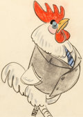 Animation Art:Concept Art, Chicken Little Concept Sketch Art by Retta Scott Group of 3 (Walt Disney, 1943).... (Total: 3 Original Art)