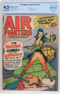 Golden Age (1938-1955):War, Air Fighters Comics V2#2 (Hillman Fall, 1943) CBCS VG+ 4.5 Cream tooff-white pages....