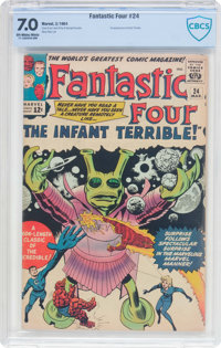 Fantastic Four #24 (Marvel, 1964) CBCS FN/VF 7.0 Off-white to white pages