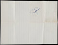 Autographs:Index Cards, Dizzy Dean Signed Paper Sheet. ...