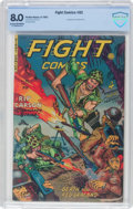 Golden Age (1938-1955):War, Fight Comics #82 (Fiction House, 1952) CBCS VF 8.0 Cream tooff-white pages....