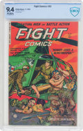 Golden Age (1938-1955):War, Fight Comics #83 (Fiction House, 1952) CBCS NM 9.4 Off-whitepages....