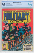 Golden Age (1938-1955):War, Military Comics #17 (Quality, 1943) CBCS FN+ 6.5 White pages....