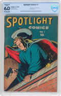Golden Age (1938-1955):Adventure, Spotlight Comics #1 (Chesler, 1944) CBCS Conserved FN 6.0 Off-white to white pages....