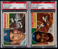 Baseball Cards:Lots, 1956 Topps Roy Campanella and Ted Williams PSA Graded Pair (2)....