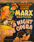 "Movie Posters:Comedy, A Night at the Opera (MGM, 1935). Window Card (14"" X 17.25"") AlHirschfeld Artwork.. ..."