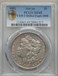 Morgan Dollars, 1901 $1 Doubled Die Reverse, VAM-3, XF45 PCGS Secure. PCGS Population: (15/29 and 0/1+). NGC Census: (0/0 and 0/0+). ...