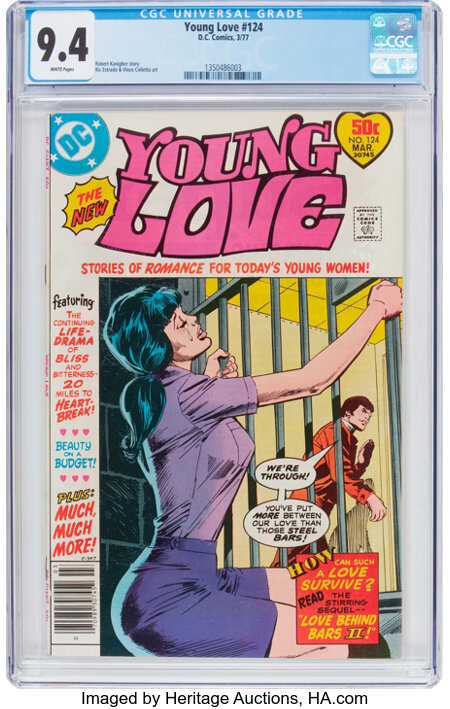 Young Love #124 (DC, 1977) CGC NM 9.4 White pages....