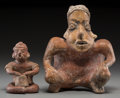 Pre-Columbian:Ceramics, Two Ancient West Mexico Hunchback Figures... (Total: 2 Items)