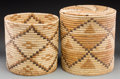 American Indian Art:Baskets, Two Large Papago Coiled Baskets... (Total: 2 Items)