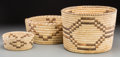American Indian Art:Baskets, Three Papago Coiled Baskets... (Total: 3 Items)