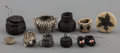 American Indian Art:Baskets, Ten Miniature Pima Horsehair Basketry Items... (Total: 10 Items)