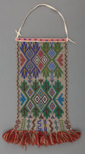 American Indian Art:Beadwork and Quillwork, An Ojibwe Loom-Beaded Panel...