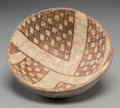 American Indian Art:Pottery, A Mimbres Black-On-White Bowl...