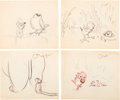 Animation Art:Production Drawing, Dumbo Deleted Characters Storyboard/Concept Art Group of 13(Walt Disney, 1941). ... (Total: 13 Original Art)