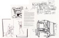 """Animation Art:Production Drawing, Disney's California Adventure """"The Animator's Desk"""" ConceptDrawings Group of 27 (Walt Disney, 1996). ... (Total: 27 )"""