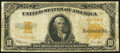 Large Size:Gold Certificates, Fr. 1173a $10 1922 Gold Certificate Fine.. ...