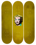 Prints:Contemporary, Andy Warhol (1928-1987). Gold Marilyn. Set of 3 decks. 31 x8 inches (78.7 x 20.3 cm). Ed. 17/100. Each numbered in mark...(Total: 3 Items)