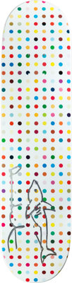 Damien Hirst (b. 1965) Dots 5- Little Shark Hand signed and hand drawn 31 x 8 inches (78.7 x 20.3