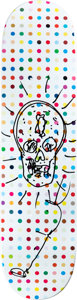 Prints:Contemporary, Damien Hirst (b. 1965). Dots 5- Skull. Hand drawn. 31 x 8inches (78.7 x 20.3 cm). Signed in marker on verso. ...