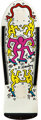 Keith Haring (1958-1990) White/Pink/Yellow Screenprint on skate deck