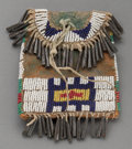 American Indian Art:Beadwork and Quillwork, A Sioux Beaded Hide Strike-A-Light Pouch. c. 1890. ...
