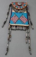 American Indian Art:Beadwork and Quillwork, A Contemporary Plains Beaded Leather Strike-A-Light...