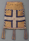 American Indian Art:Beadwork and Quillwork, An Apache Beaded Hide Pouch. c. 1885. ...