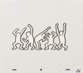 Fine Art - Work on Paper:Drawing, Keith Haring (1958-1990). Sesame Street Break-Dancers (threeworks). Marker on overhead sheet. 11 x 12-1/2 inches (27.9 ...(Total: 2 Items)