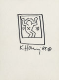 Fine Art - Work on Paper:Drawing, Keith Haring (1958-1990). Untitled (Figure in a box), 1985.Marker on paper. 12 x 8-7/8 inches (30.5 x 22.5 cm) (sheet)...
