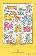 Prints:Contemporary, After Keith Haring (1958-1990). Animals, 1988. Offsetlithograph. 34 x 22 inches (86.4 x 55.9 cm) (sheet). Signed andda...