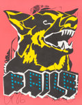 Prints:Contemporary, FAILE (20th/21st Century). Dog (Blacklight), 2015.Silkscreen on paper. 28 x 22 inches (71.1 x 55.9 cm) (sheet).Limited...