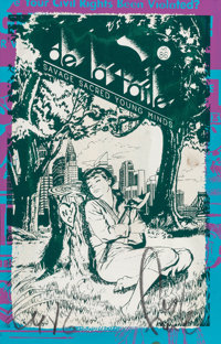 FAILE (20th/21st Century) Savage Sacred Young Minds (double sided work), 2016 Screenprint