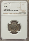 Buffalo Nickels, (4) 1924-S 5C VG8 NGC. NGC Census: (84/1103). PCGS Population: (61/1353). CDN: $22 Whsle. Bid for problem-free NGC/PCGS VG8... (Total: 4 coins)