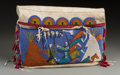 American Indian Art:Beadwork and Quillwork, A Contemporary Cheyenne River Sioux Beaded Hide Tipi Bag...