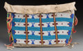 American Indian Art:Beadwork and Quillwork, A Sioux Pictorial Beaded Hide Tipi Bag. c. 1890...