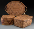 American Indian Art:Baskets, Three Northwest Coast Basketry Items... (Total: 3 Items)
