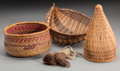 American Indian Art:Baskets, Four Southwest/California Basketry Items... (Total: 4 Items)