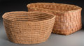American Indian Art:Baskets, Two Large Northwest Coast Utilitarian Baskets... (Total: 2 Items)