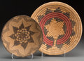 American Indian Art:Baskets, Two Southwest Coiled Baskets. c. 1920 and 1950... (Total: 2 Items)