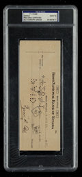 Autographs:Checks, 1941 Ty Cobb Signed Check, PSA/DNA Mint 9. ...