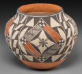 American Indian Art:Pottery, An Acoma Polychrome Jar. Connie Cerno...