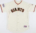Baseball Collectibles:Uniforms, 2014 Ron Wotus Game Worn San Francisco Giants Coach's Jersey with MLB Hologram - World Series....