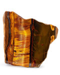 Lapidary Art:Carvings, Tiger's Eye. South Africa. 5.49 x 5.28 x 2.10 inches (13.94 x13.42 x 5.34 cm). ...