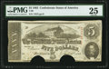 Confederate Notes:1863 Issues, T60 $5 1863 PF-14.. ...