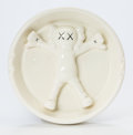 Post-War & Contemporary:Contemporary, KAWS X Gallery 1950. Original Fake Ashtray, 2008. Ceramic. 6inches (15.2 cm). Name and date inscribed on verso. ...