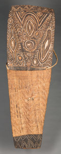 Tribal Art, Unidentified Group, Papua, New Guinea, Melanesia. Shield...