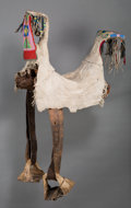 American Indian Art:Beadwork and Quillwork, A Crow Woman's Beaded Hide Parade Saddle. c. 1890...