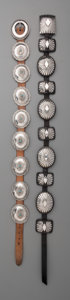 American Indian Art:Jewelry and Silverwork, Two Navajo Concho Belts. c. 1960... (Total: 2 Items)