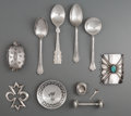 American Indian Art:Jewelry and Silverwork, Ten Southwest Miscellaneous Items. c. 1920 - 1950... (Total: 10Items)